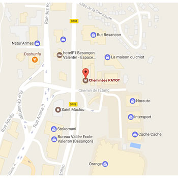 Plan Cheminées Payot Besançon