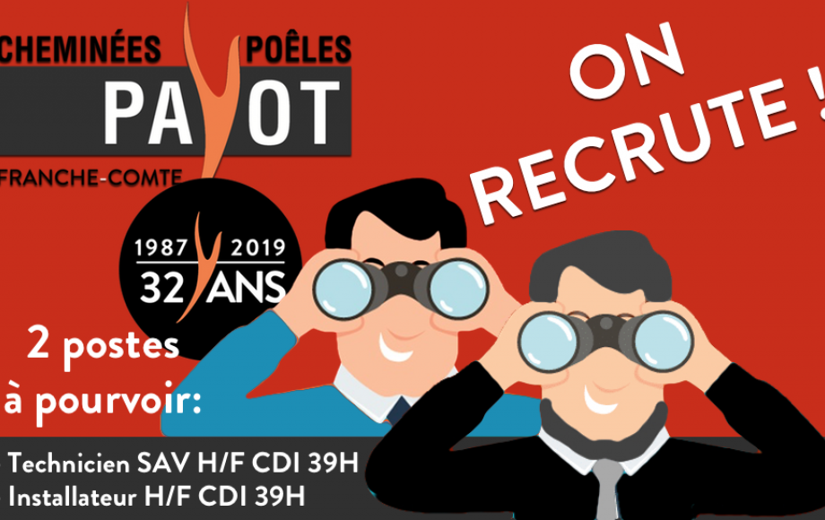 ON RECRUTE !