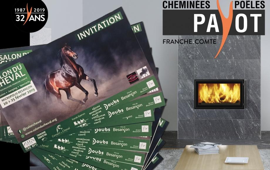 Invitations Salon du cheval de Bourgogne Franche comté à gagner !