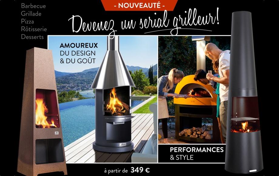 Barbecue, four à pizza, poêle d'extérieur, à découvrir aux Cheminées Payot!