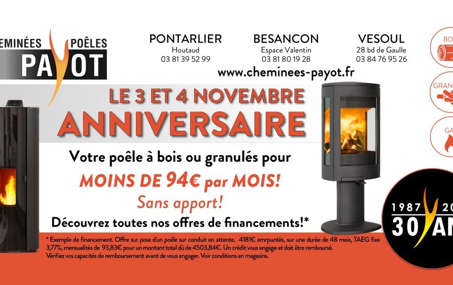 l'ANNIVERSAIRE des Cheminées PAYOT!