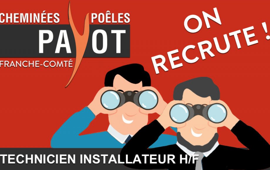 ON RECRUTE ! Technicien Installateur H/F